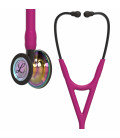 Littmann Cardiology IV Stethoscope  High Polish Rainbow-Finish Chestpiece, Raspberry Tube, Smoke Stem and Smoke Headset, 27 inch, 6241
