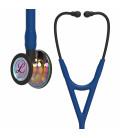 Littmann Cardiology IV Stethoscope High Polish Rainbow-Finish Chestpiece, Navy Tube, Black Stem and Black Headset, 27 inch, 6242
