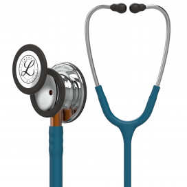 Littmann Classic III Stethoscope 5874, Mirror Chestpiece, Caribbean Blue Tube, Orange Stem and Stainless Headset