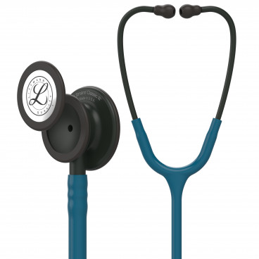 Littmann Classic III Stethoscope 5869, Black-Finish Chestpiece, stem and headset, Caribbean Blue Tube