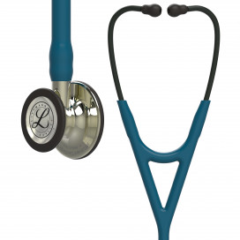 Стетоскоп Littmann Cardiology IV, трубка цвета морской волны, акустическая головка цвета шампань, черное оголовье, 69 см, 6190